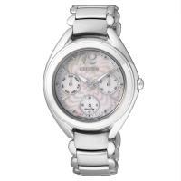 【CITIZEN星辰】Eco-Drive光動能 花漾風華優雅時尚腕錶-銀/33mm (FD2020-54D)