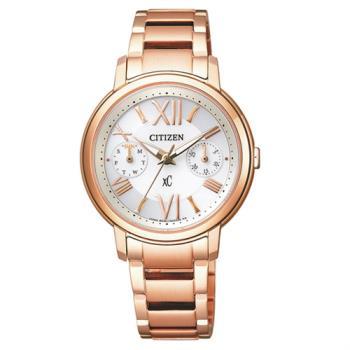 【CITIZEN星辰】Eco-Drive光動能 金色愛戀羅馬風格腕錶-玫瑰金/32mm (FD1092-59A)