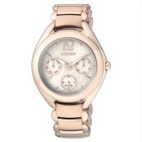 【CITIZEN星辰】Eco-Drive光動能 花漾風華優雅時尚腕錶-金/33mm (FD2023-56A)
