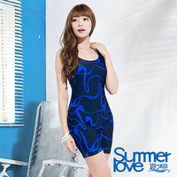 【SUMMERLOVE 夏之戀】大女連身四角泳衣(E15793)