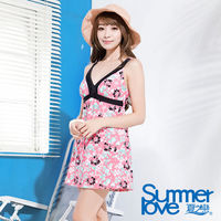 SUMMERLOVE 夏之戀 大女連身裙泳衣E15792
