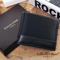 Roberta Colum - 雅痞時尚系牛皮款左右翻8卡1照短夾-共2色