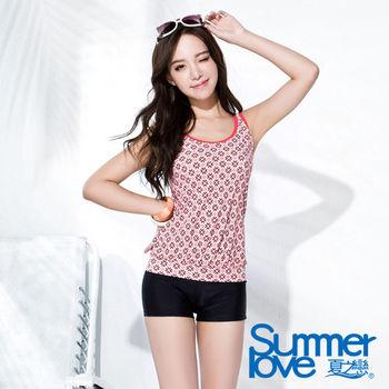 夏之戀SUMMERLOVE 復古典雅長版兩件式泳衣(S16714)