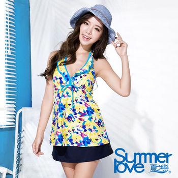 夏之戀SUMMERLOVE 向陽風情長版三件式泳衣(S16710)