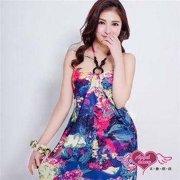 天使霓裳 罩衫 皎潔浪漫 泳裝比基尼外搭罩衫(紫彩F) -DG802