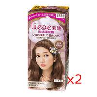 莉婕泡沫染髮劑 魅力彩染系列 亮澤紅棕(2入)