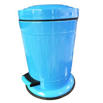 PUSH! 居家生活用品 colourful液壓緩降圓型垃圾桶 置物桶 5升(L)I20