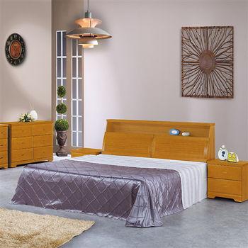 【時尚屋】[UZ6]欣凱樟木色5尺雙人床UZ6-20-4+20-5不含床頭櫃-床墊