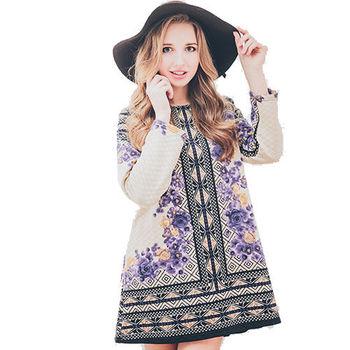 日本Impress菱格暖棉羊毛織洋裝