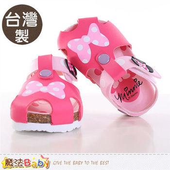 魔法Baby 兒童涼鞋 台灣製迪士尼米妮專櫃童鞋~sh9644