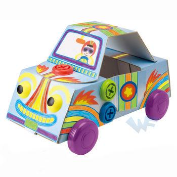 【美國ALEX】幼兒剪貼系列-小小工程師-小汽車