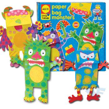 【美國ALEX】幼兒剪貼系列-DIY怪獸紙袋玩偶