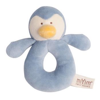 美國miYim有機棉手搖鈴(噗噗企鵝)