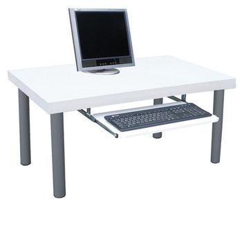 【Dr. DIY】厚型桌面(4.4公分厚度)書桌/電腦桌/和室桌(附鍵盤抽)素雅白色