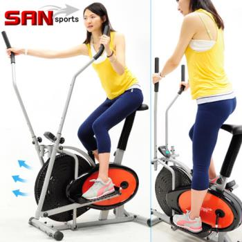 【SAN SPORTS】動感橢圓漫步機(結合划船機+跑步機+手足健身車)