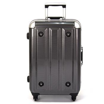 MOM 日本品牌 - 18吋-第二代旗艦正式版 PC鋁框行李箱(RU-3008-18-黑)