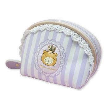 巧克力熊 公主彎形拉鍊式零錢包