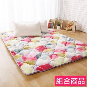 【契斯特】暖心雪狐絨日式床墊居家組-雙人普普風