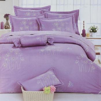 【R.Q.POLO】日居的禮物系列-慕樂花悅 純棉涼被床包四件組/雙人標準(5尺)