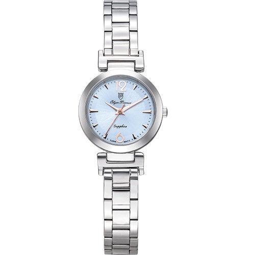 Olym Pianus 奧柏表 想樂份子流行簡約腕錶-藍/24mm 5684LS