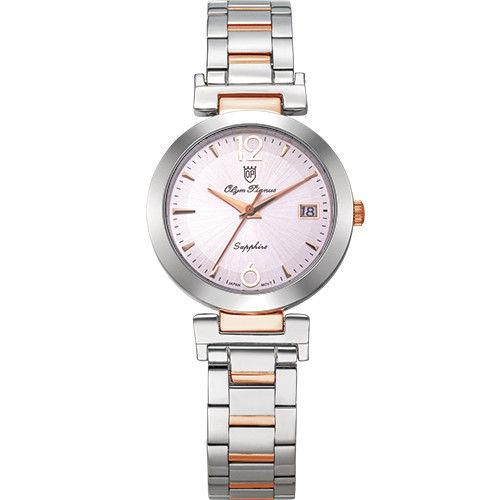 Olym Pianus 奧柏表 想樂份子流行簡約腕錶-粉X玫瑰金/35mm 5684MSR