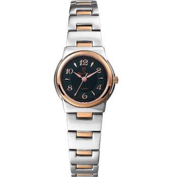 Olym Pianus 奧柏表 粉彩系列簡約腕錶-黑X玫瑰金/23mm 5686LSR