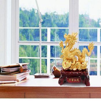 開光招財生肖龍擺件樹脂工藝品擺設風水龍家居裝飾品開業禮品