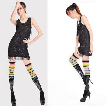 【JHJ DESIGN】鴨子星人的逆襲 膝上襪/長統襪(加拿大品牌 MIT)-行動