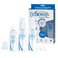 GMP BABY 美國Dr. Brown 標準口徑PP防脹氣奶瓶2大1小 附較大奶嘴