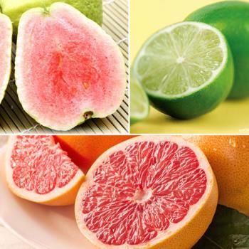 【果之家】每日C家庭水果箱(紅心芭樂+葡萄柚+檸檬)