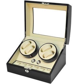 WISH 機械腕錶自動上鍊盒‧10只裝 - 黑色鋼琴烤漆 (031-BW)