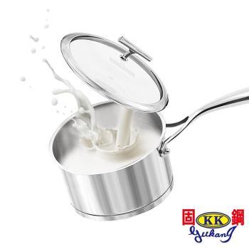 【固鋼】304不鏽鋼精品級多功能湯奶鍋18cm-2件組