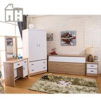 【AT HOME】威尼斯梧桐白雙人臥室四件組(床頭箱+床頭櫃+化妝台+衣櫃)