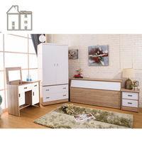 【AT HOME】威尼斯梧桐白雙人臥室四件組(床頭箱+床頭櫃+掀鏡台+衣櫃)