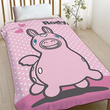 【享夢城堡】跳跳馬 粉紅RODY 刷毛毯