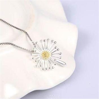 【米蘭精品】925純銀項鍊蒲公英吊墜蒲公英精緻可愛銀飾