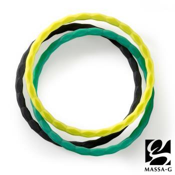 MASSA-G【Argyle幻彩之環】 鍺鈦手環(三入組)