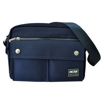 NCAA 側背包 寶石藍防潑水隨身側背包 (深藍、深紫、黑色)