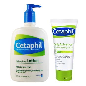 Cetaphil舒特膚 溫和乳液20oz(加贈保濕霜85g)