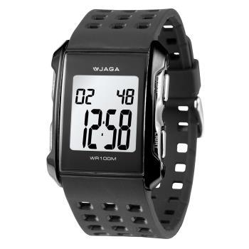 JAGA 捷卡M807-A 都會熱活甜心多功能電子錶(黑)