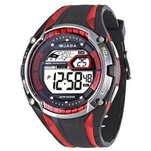 JAGA 捷卡 M980-AG 超級戰將多功能電子錶(黑紅)