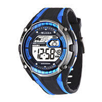 JAGA 捷卡M980-AE 超級戰將多功能電子錶 (黑藍)
