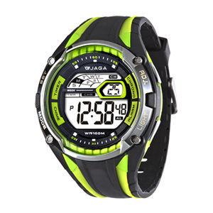 JAGA 捷卡M980-AF 超級戰將多功能電子錶(黑綠)