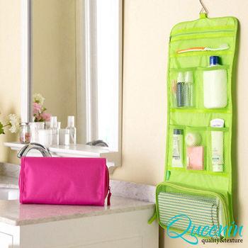DF Queenin日韓 - 韓版炫彩系列出國攜帶旅行盥洗收納袋-共3色