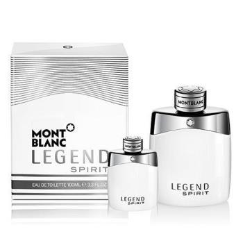 MONTBLANC LEGEND SPIRIT 萬寶龍傳奇白朗峰男性淡香水 30ml+同款小香 4.5ml