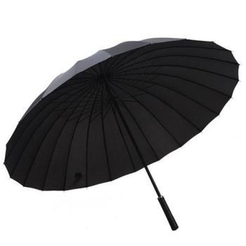 PUSH 好聚好傘 24骨3人抗紫外線雨傘遮陽傘(附贈懸掛傘架子)I27黑色