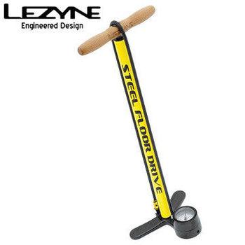 LEZYNE STEEL FLOOR DRIVE復古直立式打氣筒-黃
