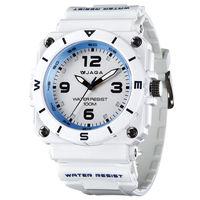 JAGA 捷卡 AQ934-D 運動休閒風指針錶-白