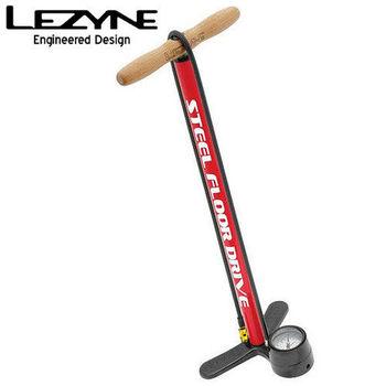 LEZYNE STEEL FLOOR DRIVE復古直立式打氣筒(紅)