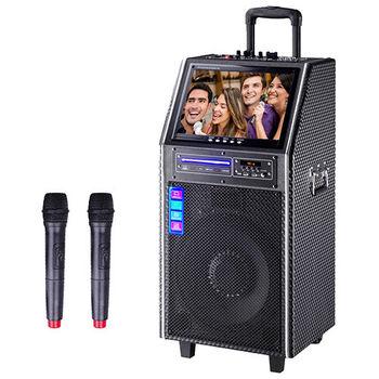 大聲公無線式12吋DVD伴唱型多功能行動音箱 /行動KTV